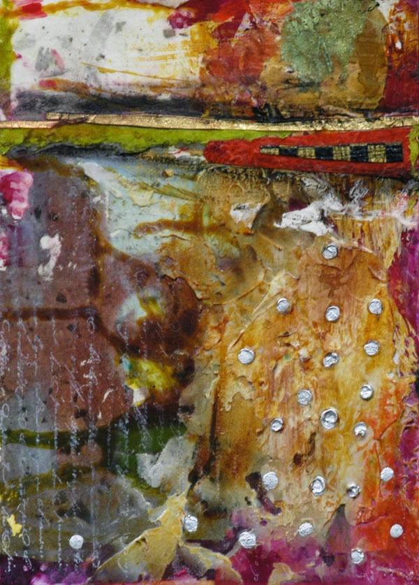 abstract collage painting