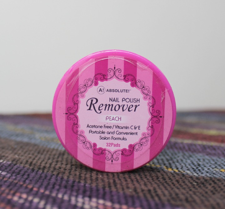 Absolute! Nail Polish Remover Pads - Peach