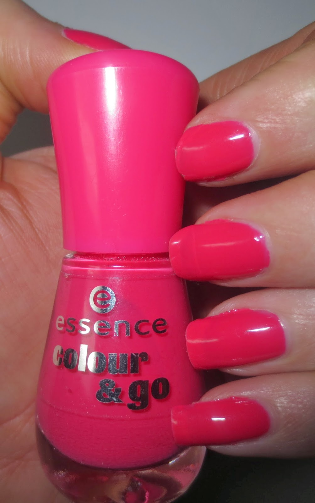 essence colour & go nail polish - naughty and pink!