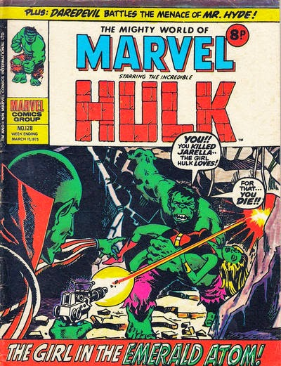 Mighty World of Marvel #128, Hulk and Jarella
