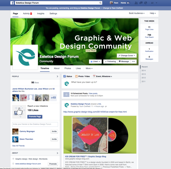 Estetica Design Forum Facebook Group