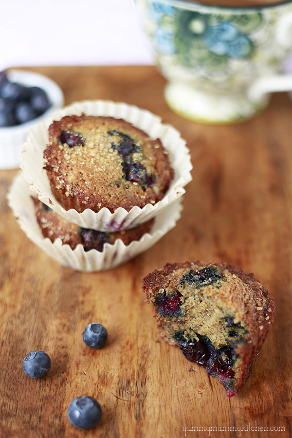 Healthy Banana Blueberry Muffins | Yummy Mummy Kitchen | A Vibrant ...