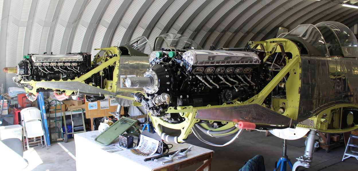 XP-82 Twin Mustang Project: October XP-82 Twin Mustang Restoration Update