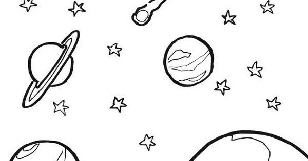 Ciclo escolar el sistema solar dibujos para colorear - Dibujos infantiles del espacio ...