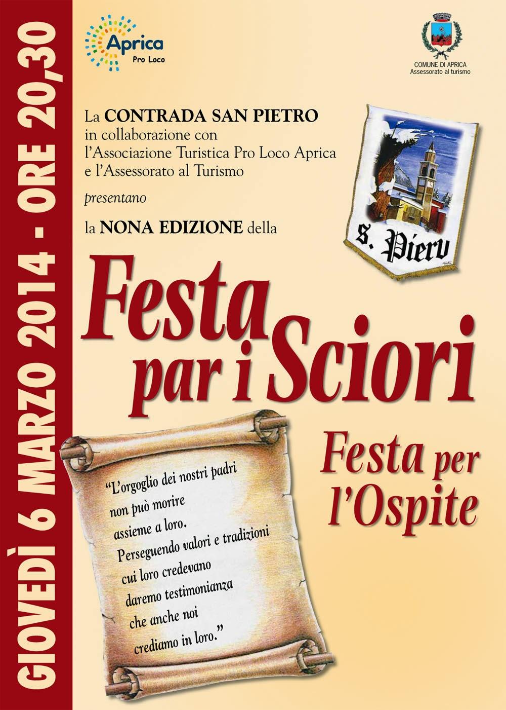 Festa par i Sciori 6 Marzo Aprica (SO)