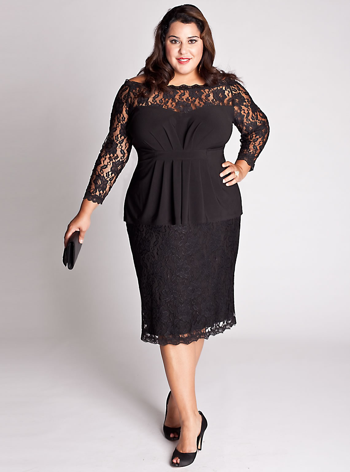 deep v plus size get dressed