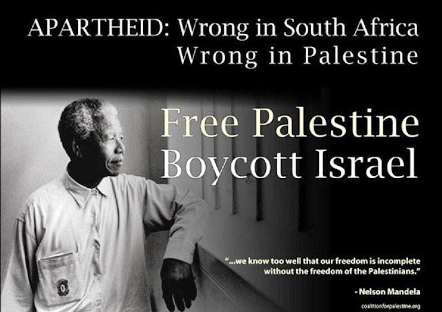 Nelson Mandela, free Palestine, boycott Israel