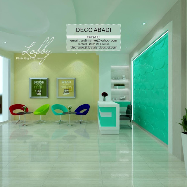 desain lobby dental care indonesia