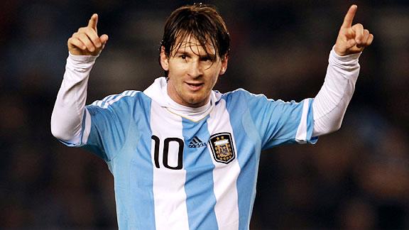Messi con la Camiseta de Argentina