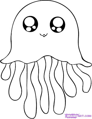 Cute Animal Coloring Pages Jellyfish