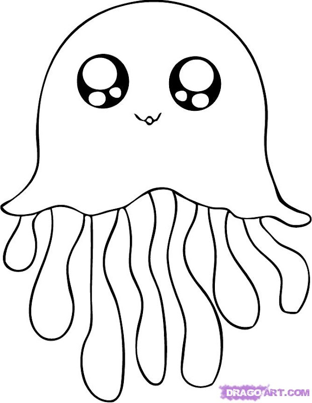 cute jellyfish coloring pages jellyfish are animals that live in the  title=