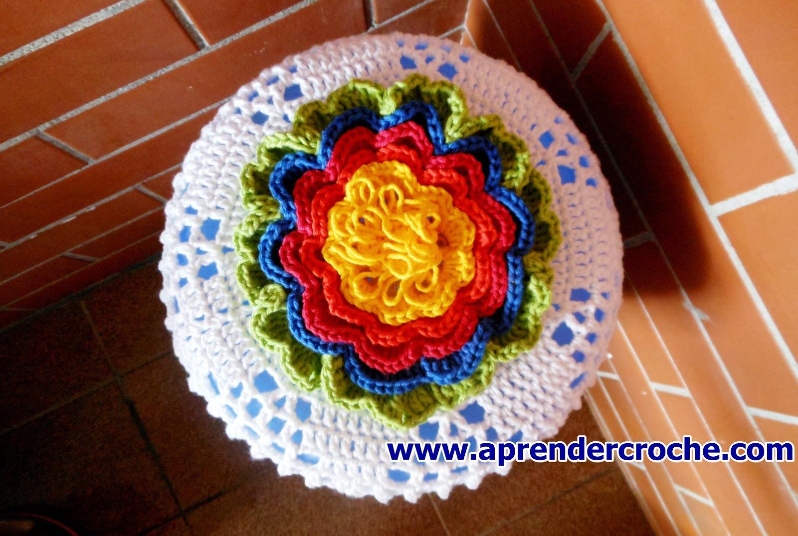 aprender croche gratis com capa arco-iris para galão de agua dvd curso de croche loja frete gratis