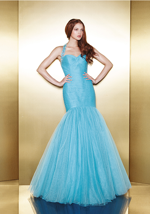 Love 16 Blue Mermaid Prom Dresses by Enzoani 2013