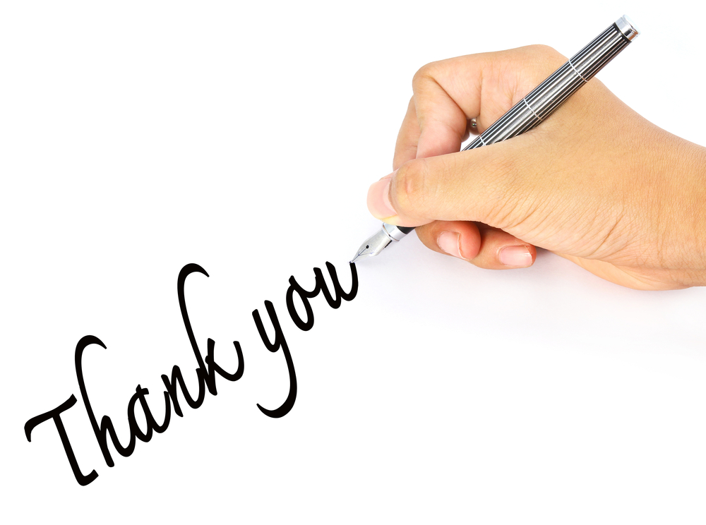 Thank You Note Wallpaper