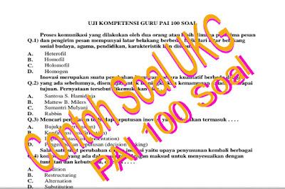 Download Kumpulan Soal dan Latihan UKA/UKG 2015 Guru PAI dan PJOK