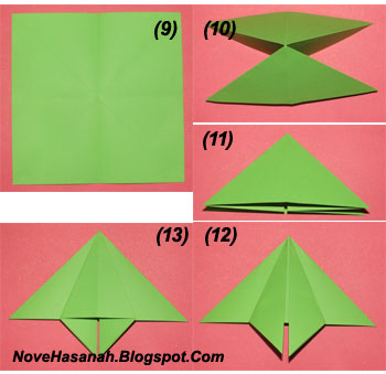 langkah-langkah cara melipat kertas origami untuk anak-anak berbentuk payung yang mudah sekali 7