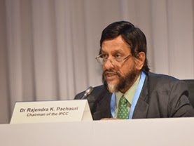 Rajendra Pachauri (Credit: IPCC) Click to enlarge.