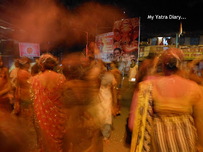 Devotees dancing - Ganesh Chaturthi festival