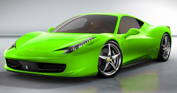 2013 ferrari 458 spider green