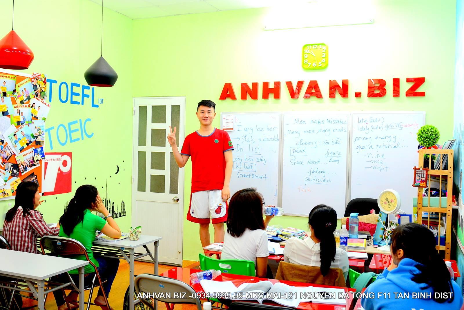 Học Viên IELTS tại Anhvan.biz được khích lệ dạn dĩ và chủ động học tập