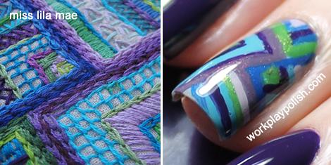 Crochet Inspired Zoya Mani