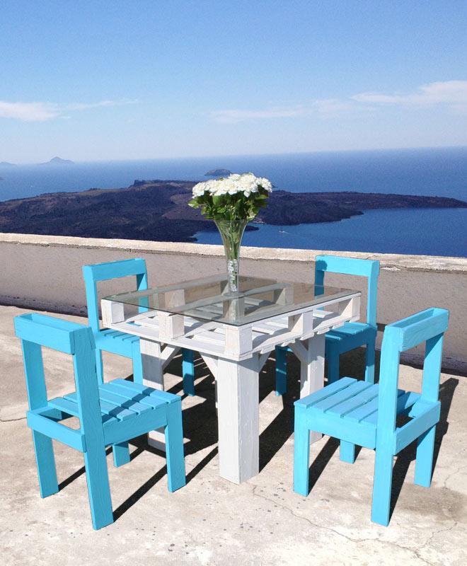 Diy un salon de jardin en bois de palette initiales - Mobilier de jardin en palette aixen provence ...