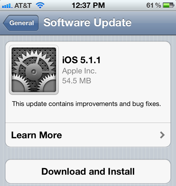 ios511 The IOS 5.1.1 addresses the vulnerability that could make Spoofing in Safari