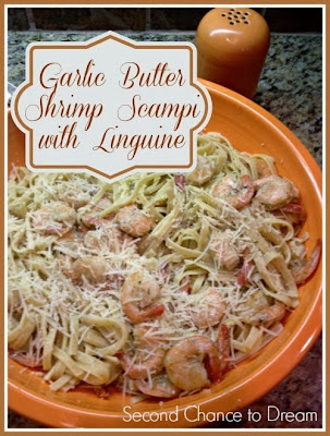 Garlic Butter Shrimp Scampi with Linguine from Second Chance to Dream