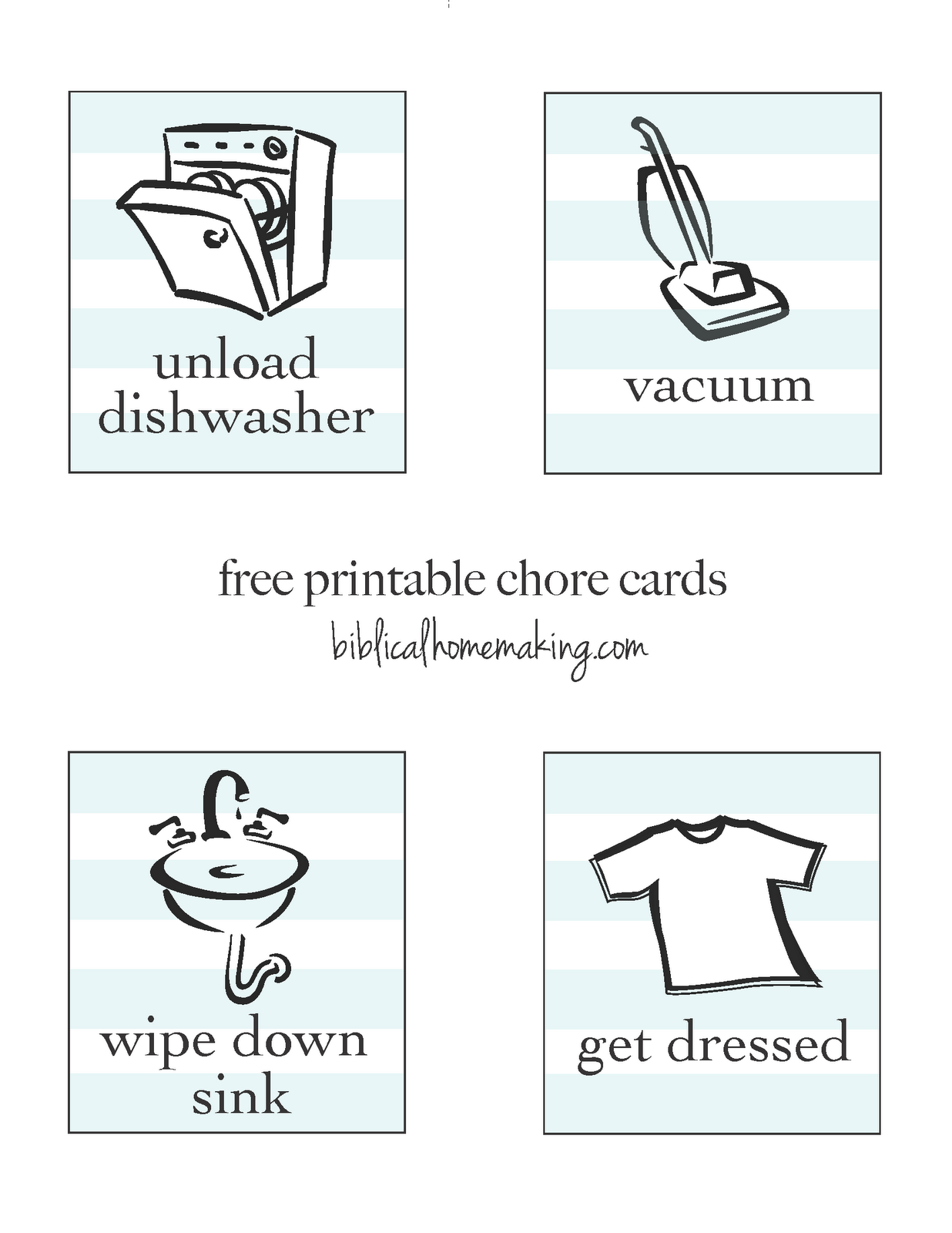 free printable chore cards & tutorial - Biblical Homemaking