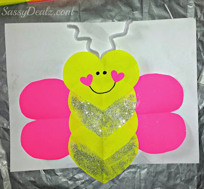 butterfly valentines love bug craft kids