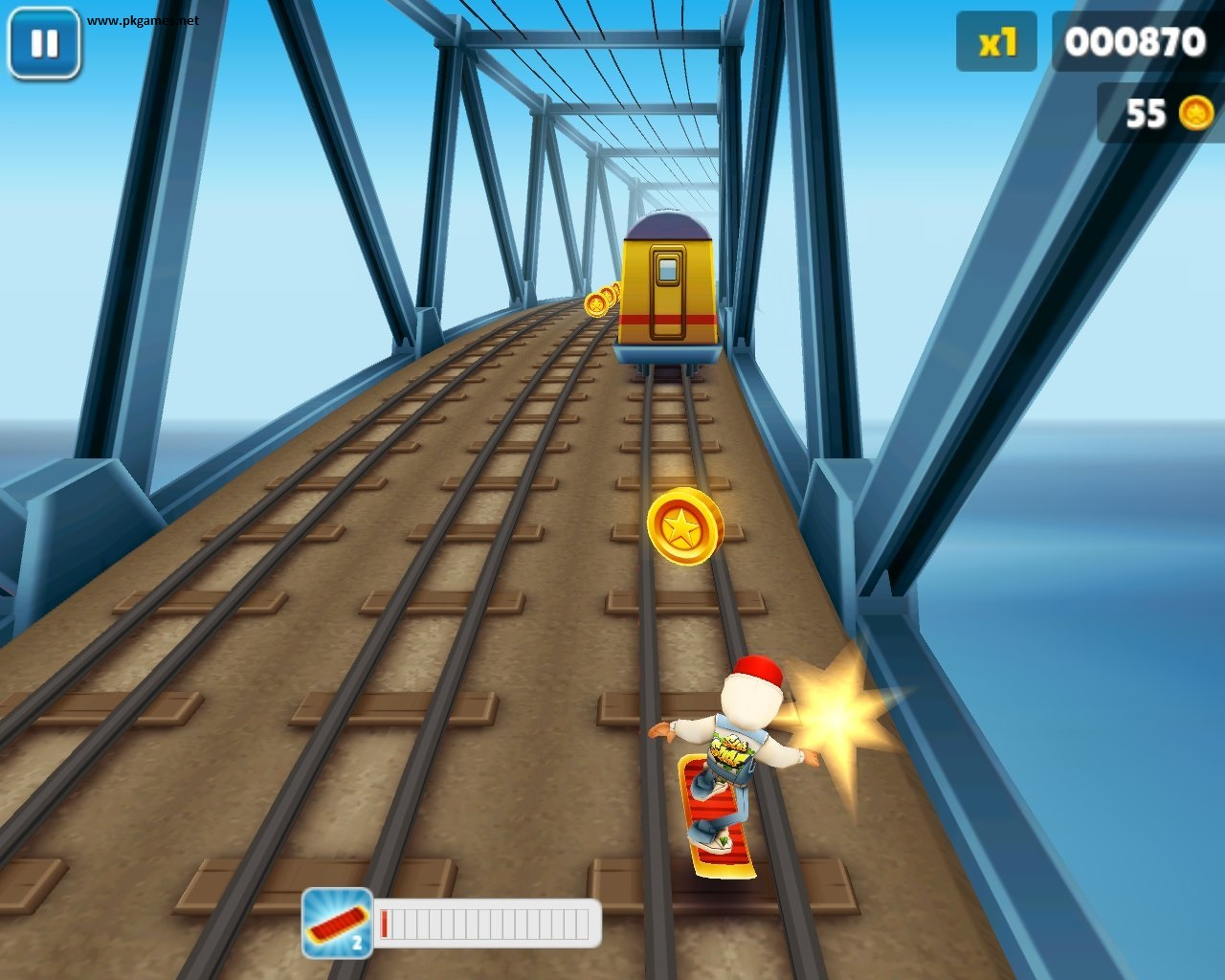 TO AIRPLANE MODE AND SUBWAY SURFERS SHOULD START WITHOUT PROBLEMS