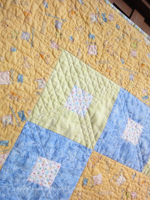 Just Ducky, quilting detail, front