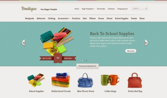 Boutique Blogger Template