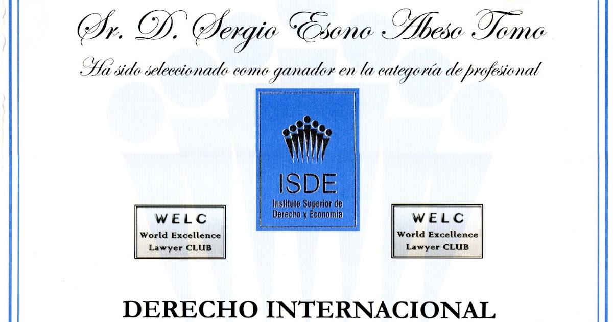 V PREMIO JURIDICO INTERNACIONAL ISDE 2013 DERECHO INTERNACIONAL ...