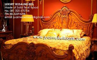 Classic carved wooden teak wood bed luxury teak bed carved teak furniture jepara