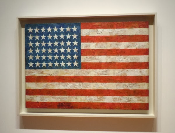 Jasper Johns painted US Flag