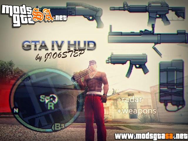 SA - Novo HUD do GTA IV