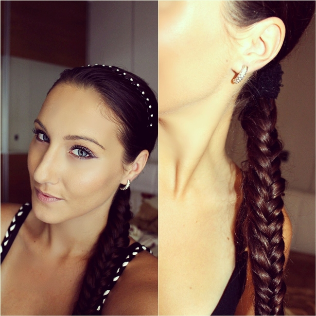 Jelena Zivanovic Instagram. Best fishtail braid. Beauty blogger, makeup blogger. Hairstyle trends 2014.