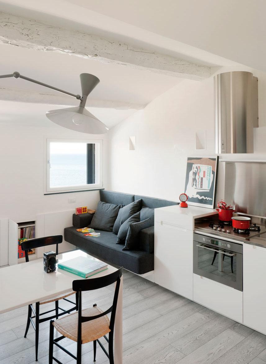 Attic Penthouse Has White Charm