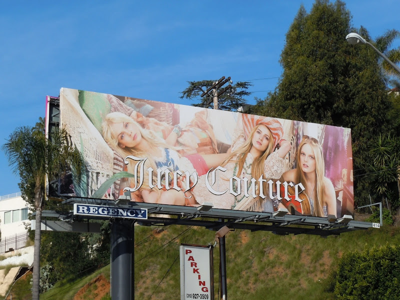 Juicy Couture fashion billboard