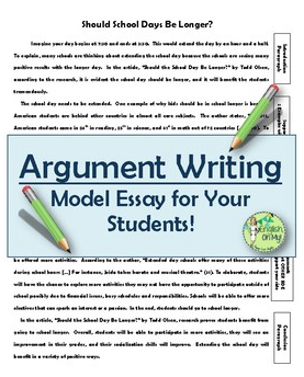 model essays for students Back student learning tools argument essay #1 - by chris polito argument essay #2 argument essay #4 click here to view essay a deadly tradition (pdf document).