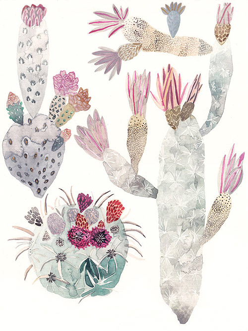 Cactus Trio by Michelle Morin