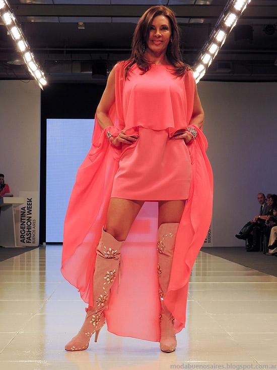 Moda primavera verano 2015 vestidos de fiesta desfile Fuca Baam N°41.