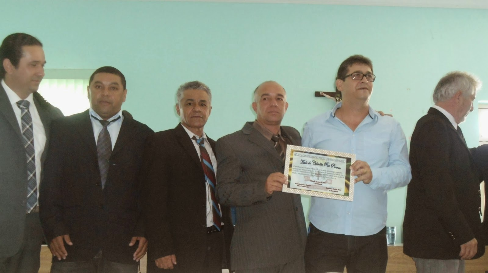 Rui Costa recebe Titulo de Cidadão Riopirense.
