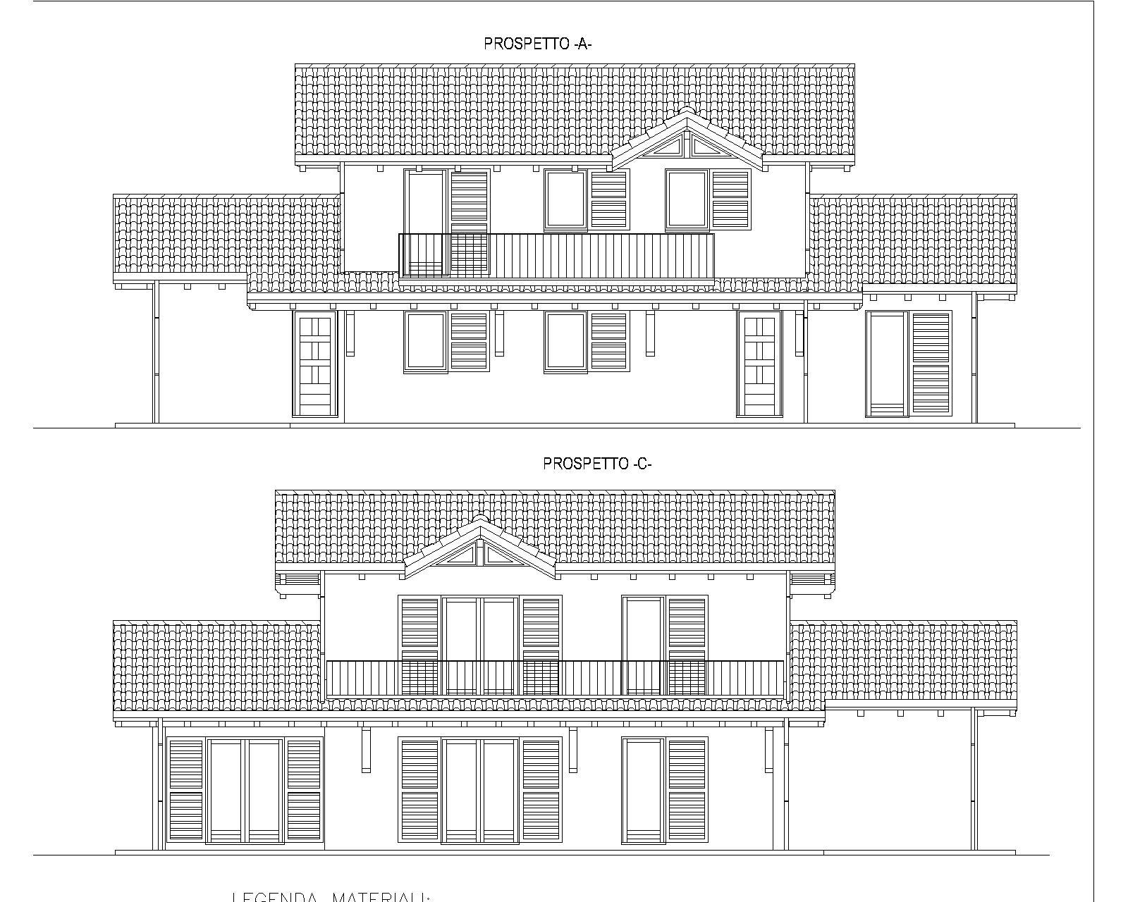 progetti di case in legno casa bifamiliare 222 mq
