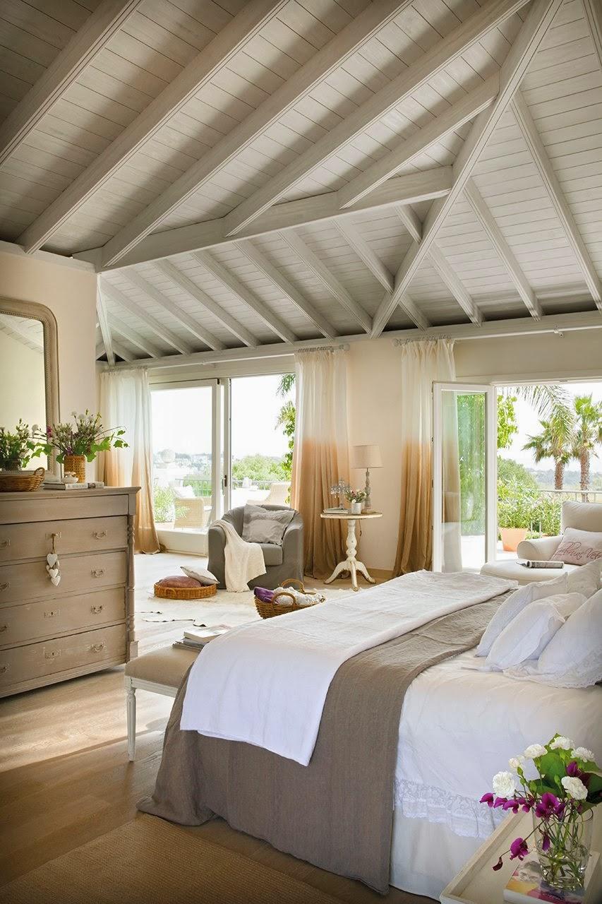 amenajari, interioare, decoratiuni, decor, design interior, dormitor, luminos, rustic, mansarda
