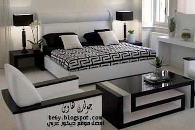modern black white bedroom
