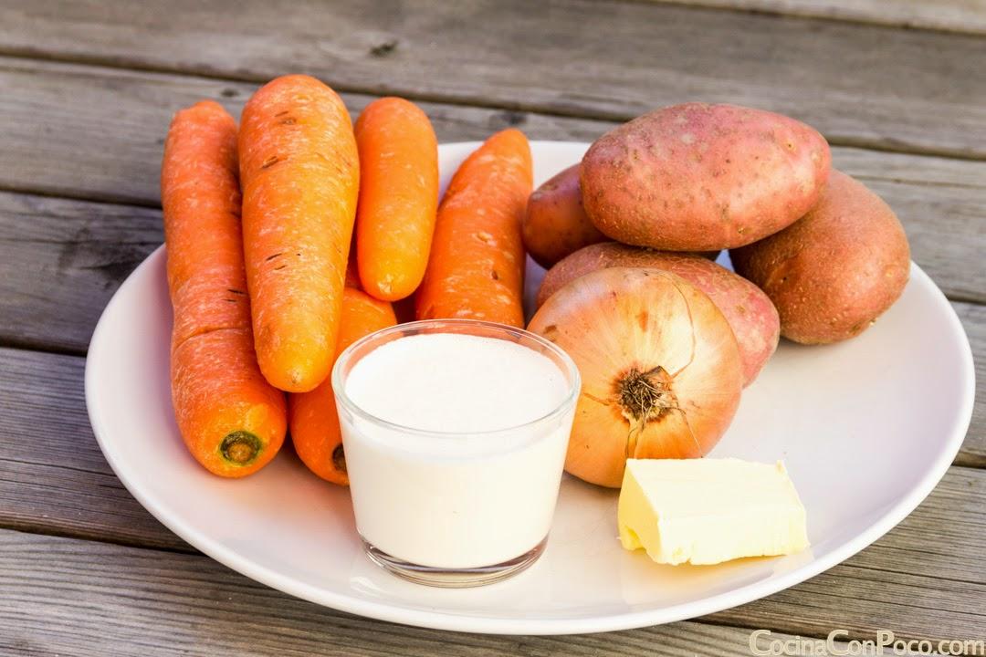 Pure o crema de zanahoria - Receta paso a paso