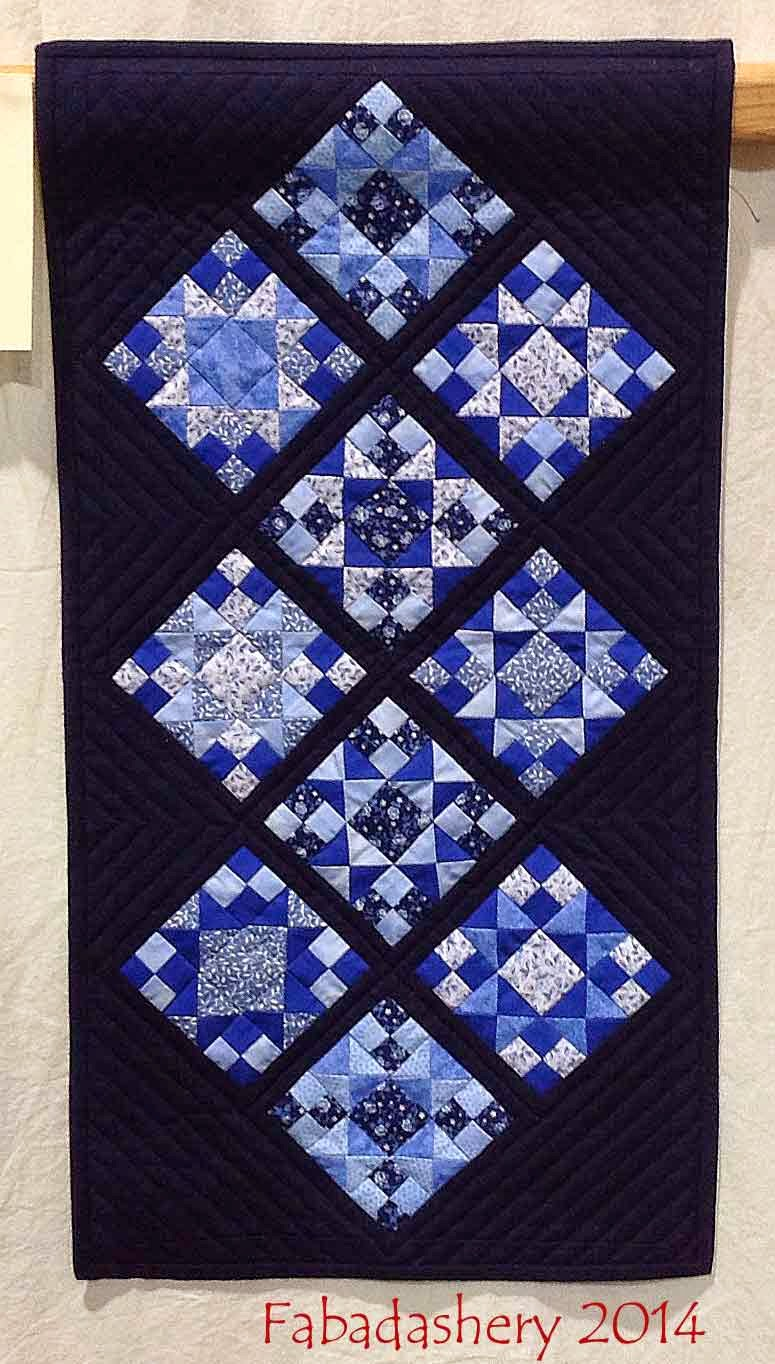 'Delft Floor Tiles' by Alice Webb Quilt