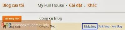 Cách import dữ liệu vào blogspot